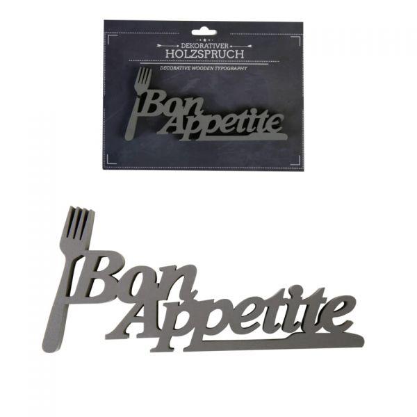 """Parts4living Holzschrift """"Bon Appetite"""" Schriftzug Holzspruch Wanddeko 9x19 cm"""