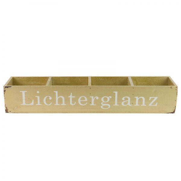 Parts4Living Antikholz Kiste Adventsgesteck Adventskiste gold 50 x 11 x 8 cm