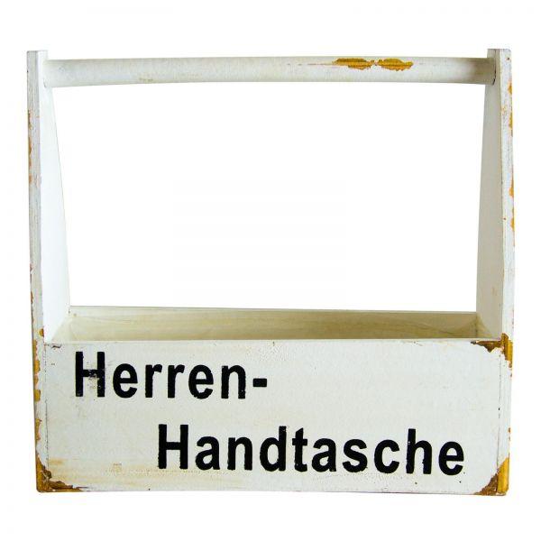 Parts4Living Herrenhandtasche Antikholz Geschenkbox Flaschenhalter 35x12x32 cm