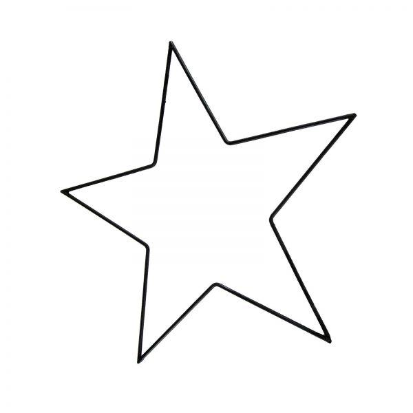 Parts4Living Metall Stern Metallstern dünn schwarz zum Aufhängen 50 cm