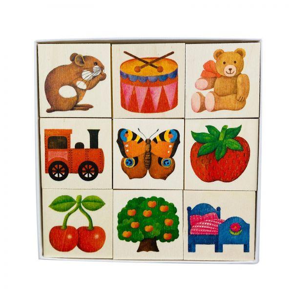 """Parts4Living Memory Spiel """"Erinnere Dich"""" Merkspiel aus Holz mit 36 Spielkarten"""