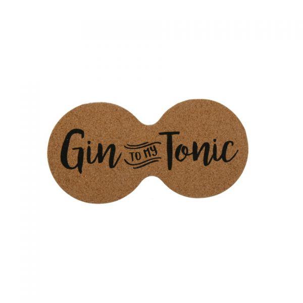 "Parts4Living Untersetzer ""Gin to my Tonic"" Doppel-Untersetzer Kork 10 x 19 cm"