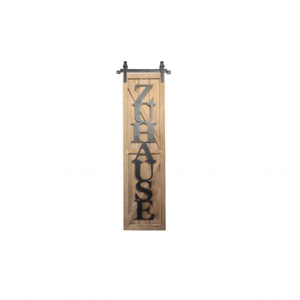"Parts4Living Holzschild ""Zuhause"" mit Beschlaghalterung Wandbild 72x2,5x26cm"