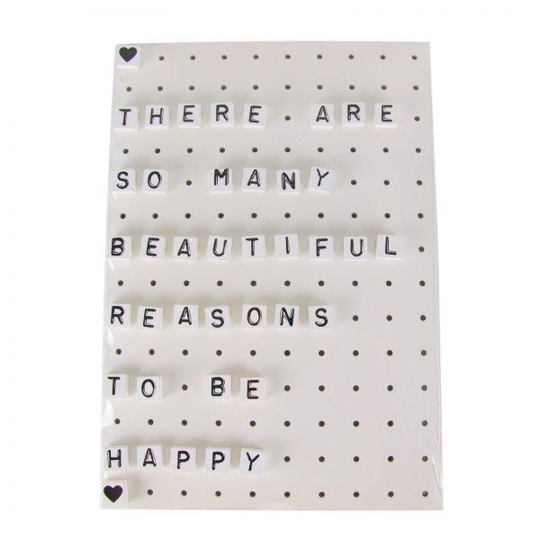 "Parts4Living Memoboard ""Letters"" Letterboard Buchstabentafel mit 40 Buchstaben"