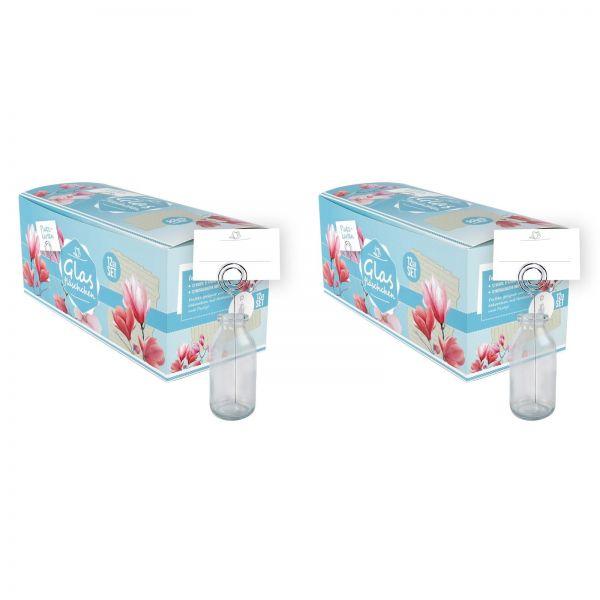 Parts4Living Glasflaschen für Platzkarten Hochzeitsdeko Tischdekoration 24er Set