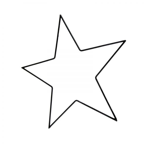 Parts4Living Metall Stern Metallstern dünn schwarz zum Aufhängen 25 cm