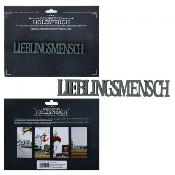 """Parts4living Holzschrift """"Lieblingsmensch"""" Schriftzug Holzspruch Holzschrift"""